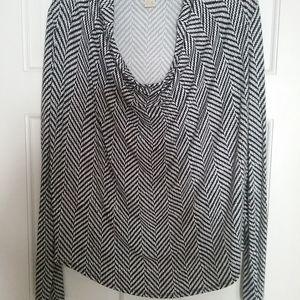 Michael Kors black and white blouse